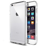 "SPIGEN Apple iPhone 6 Plus (5.5"") Case Ultra Hybrid [SGP10900] - Crystal Clear - Casing Handphone / Case"